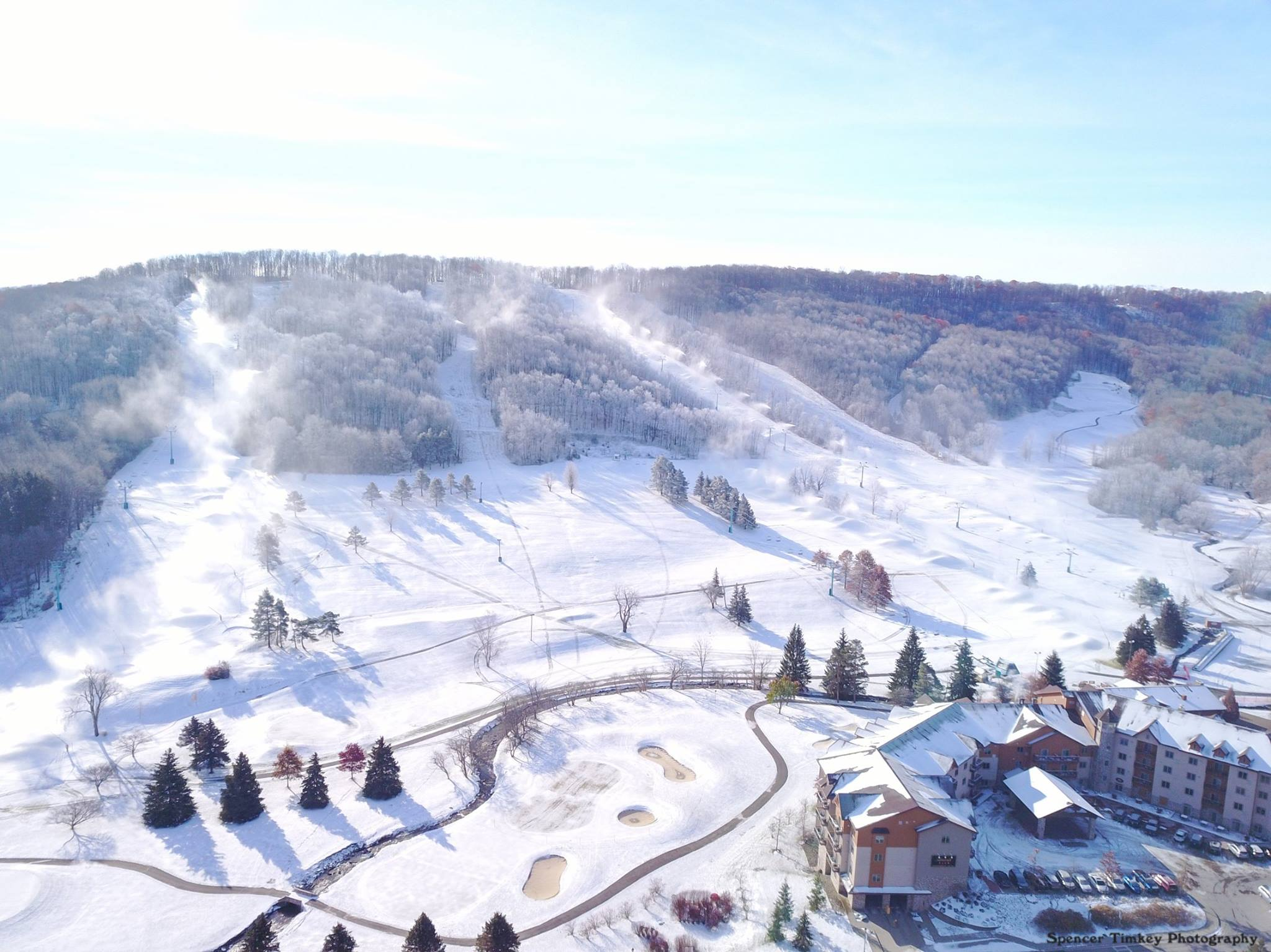 Snowmaking at Holiday Valley